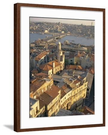The Beyoglu Area of the City and a Road Bridge Over the Bosphorus, Istanbul, Turkey-Ken Gillham-Framed Photographic Print