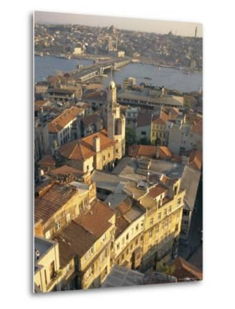 The Beyoglu Area of the City and a Road Bridge Over the Bosphorus, Istanbul, Turkey-Ken Gillham-Metal Print