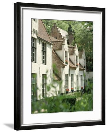 Beguine Houses, Begijnhof (Beguinage), Bruges (Brugge), Belgium, Europe-Ken Gillham-Framed Photographic Print