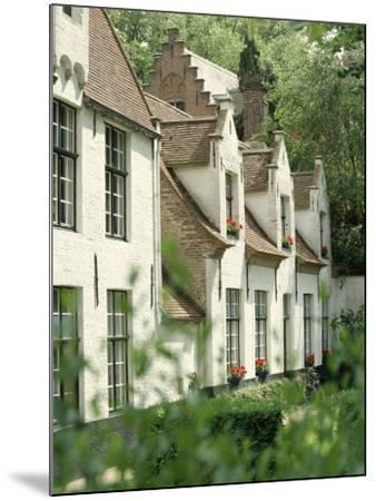 Beguine Houses, Begijnhof (Beguinage), Bruges (Brugge), Belgium, Europe-Ken Gillham-Mounted Photographic Print