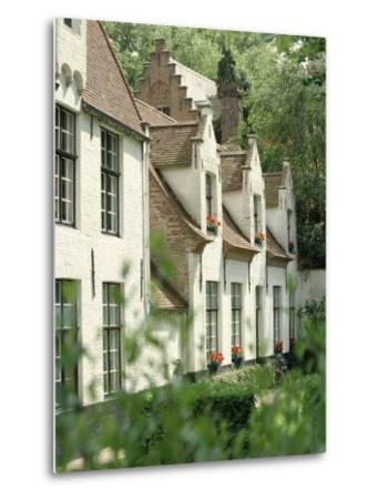 Beguine Houses, Begijnhof (Beguinage), Bruges (Brugge), Belgium, Europe-Ken Gillham-Metal Print