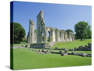 The Ruins of Glastonbury Abbey, Glastonbury, Somerset, England, UK-Christopher Nicholson-Stretched Canvas Print