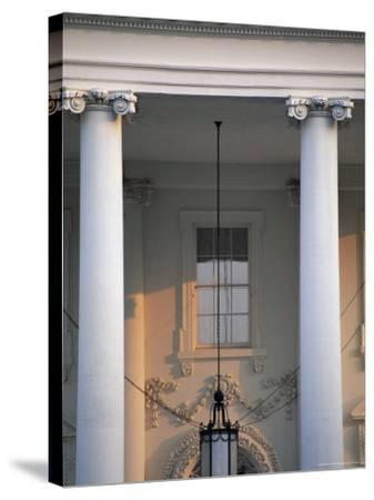 Detail of the White House, Washington D.C., United States of America (U.S.A.), North America-Jonathan Hodson-Stretched Canvas Print