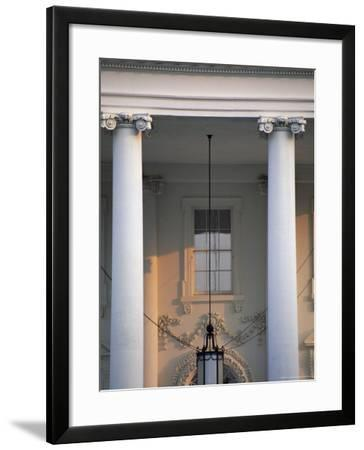 Detail of the White House, Washington D.C., United States of America (U.S.A.), North America-Jonathan Hodson-Framed Photographic Print