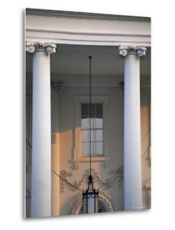 Detail of the White House, Washington D.C., United States of America (U.S.A.), North America-Jonathan Hodson-Metal Print