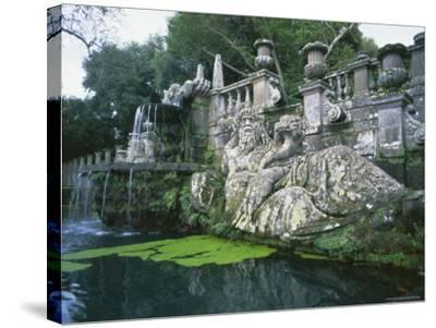 Fountains in the Gardens of the Villa Lante, Bagnaia, Lazio, Italy, Europe-Michael Newton-Stretched Canvas Print