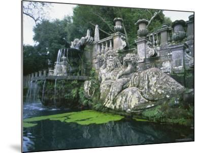 Fountains in the Gardens of the Villa Lante, Bagnaia, Lazio, Italy, Europe-Michael Newton-Mounted Photographic Print