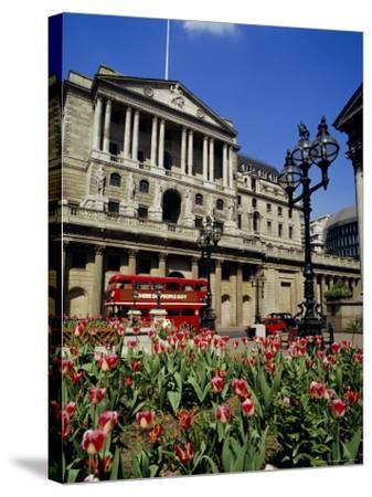 The Bank of England, Threadneedle Street, City of London, England, UK-Walter Rawlings-Stretched Canvas Print