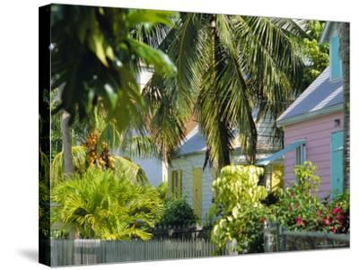 Hope Town, 200 Year Old Settlement on Elbow Cay, Abaco Islands, Bahamas, Caribbean, West Indies-Nedra Westwater-Stretched Canvas Print