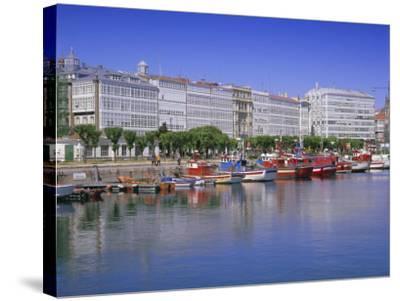 Colourful Boats in Port, La Coruna, Galicia, Spain, Europe-Gavin Hellier-Stretched Canvas Print