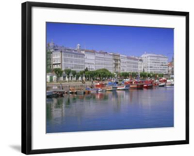 Colourful Boats in Port, La Coruna, Galicia, Spain, Europe-Gavin Hellier-Framed Photographic Print