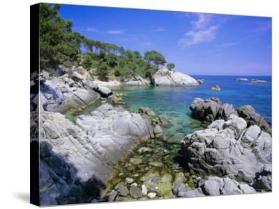 Typical Costa Brava Scenery Near S'Agaro, Costa Brava, Catalunya (Catalonia) (Cataluna), Spain-Gavin Hellier-Stretched Canvas Print