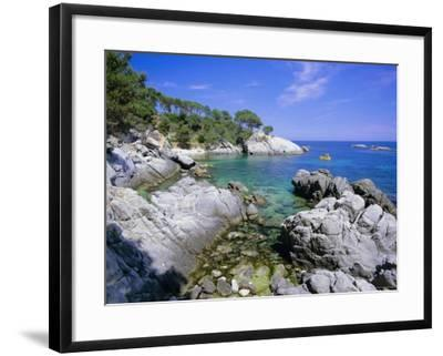 Typical Costa Brava Scenery Near S'Agaro, Costa Brava, Catalunya (Catalonia) (Cataluna), Spain-Gavin Hellier-Framed Photographic Print
