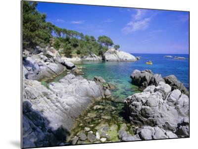 Typical Costa Brava Scenery Near S'Agaro, Costa Brava, Catalunya (Catalonia) (Cataluna), Spain-Gavin Hellier-Mounted Photographic Print