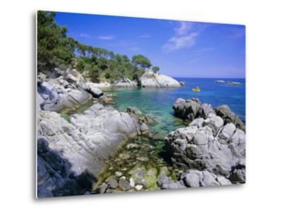 Typical Costa Brava Scenery Near S'Agaro, Costa Brava, Catalunya (Catalonia) (Cataluna), Spain-Gavin Hellier-Metal Print