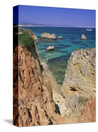 Beaches Near Lagos, Algarve, Portugal, Europe-Gavin Hellier-Stretched Canvas Print