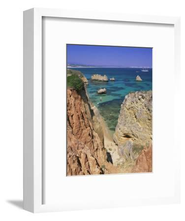 Beaches Near Lagos, Algarve, Portugal, Europe-Gavin Hellier-Framed Photographic Print