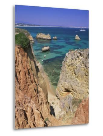 Beaches Near Lagos, Algarve, Portugal, Europe-Gavin Hellier-Metal Print