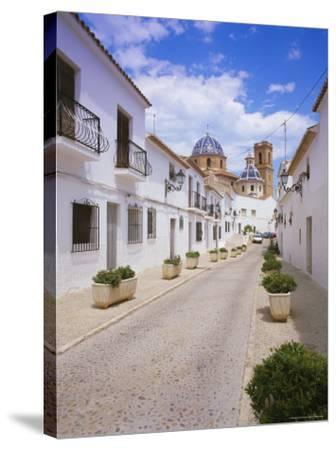 Church and Street in Altea, Valencia, Spain, Europe-Gavin Hellier-Stretched Canvas Print