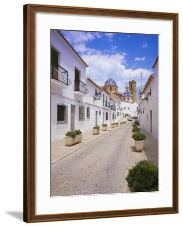 Church and Street in Altea, Valencia, Spain, Europe-Gavin Hellier-Framed Photographic Print