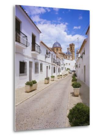 Church and Street in Altea, Valencia, Spain, Europe-Gavin Hellier-Metal Print