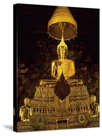 Statue of the Buddha, Wat Pho (Wat Po) (Wat Phra Chetuphon), Bangkok, Thailand, Southeast Asia-Gavin Hellier-Stretched Canvas Print