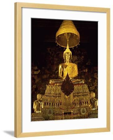 Statue of the Buddha, Wat Pho (Wat Po) (Wat Phra Chetuphon), Bangkok, Thailand, Southeast Asia-Gavin Hellier-Framed Photographic Print
