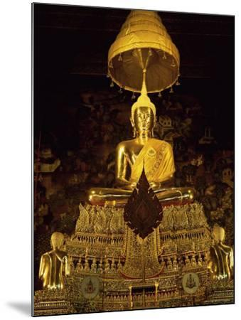 Statue of the Buddha, Wat Pho (Wat Po) (Wat Phra Chetuphon), Bangkok, Thailand, Southeast Asia-Gavin Hellier-Mounted Photographic Print