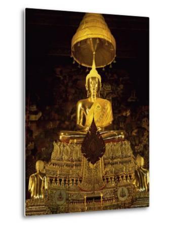 Statue of the Buddha, Wat Pho (Wat Po) (Wat Phra Chetuphon), Bangkok, Thailand, Southeast Asia-Gavin Hellier-Metal Print