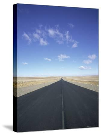 Long Straight Road in Patagonia, Patagonia, Argentina, South America-Gavin Hellier-Stretched Canvas Print