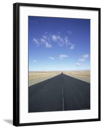 Long Straight Road in Patagonia, Patagonia, Argentina, South America-Gavin Hellier-Framed Photographic Print
