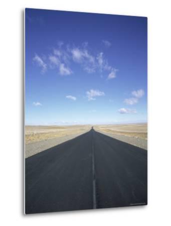 Long Straight Road in Patagonia, Patagonia, Argentina, South America-Gavin Hellier-Metal Print