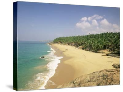 Beach and Coconut Palms, Kovalam, Kerala State, India, Asia-Gavin Hellier-Stretched Canvas Print