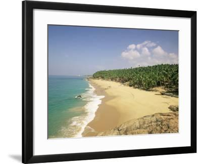 Beach and Coconut Palms, Kovalam, Kerala State, India, Asia-Gavin Hellier-Framed Photographic Print
