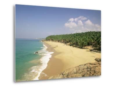 Beach and Coconut Palms, Kovalam, Kerala State, India, Asia-Gavin Hellier-Metal Print