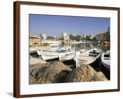 Fishing Boats in the Fishing Harbour, Tyre (Sour), the South, Lebanon, Middle East-Gavin Hellier-Framed Photographic Print