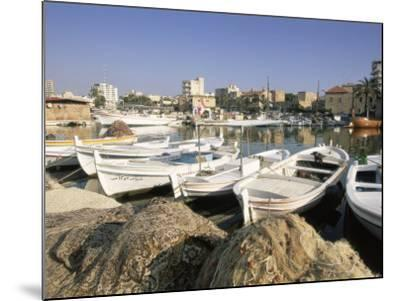 Fishing Boats in the Fishing Harbour, Tyre (Sour), the South, Lebanon, Middle East-Gavin Hellier-Mounted Photographic Print