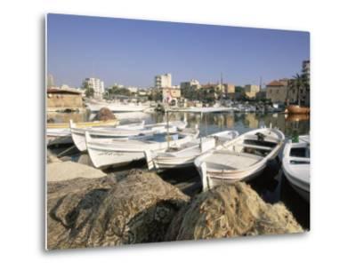 Fishing Boats in the Fishing Harbour, Tyre (Sour), the South, Lebanon, Middle East-Gavin Hellier-Metal Print