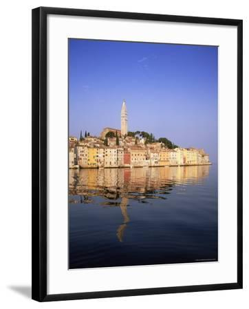Old Town Houses and Cathedral of St. Euphemia, Rovinj, Istria, Croatia, Europe-Gavin Hellier-Framed Photographic Print