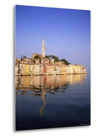 Old Town Houses and Cathedral of St. Euphemia, Rovinj, Istria, Croatia, Europe-Gavin Hellier-Metal Print