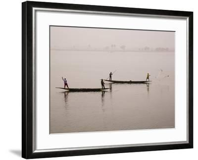 Fishing on the River Niger, Niger Inland Delta, Segou Region, Mali, West Africa, Africa-Gavin Hellier-Framed Photographic Print