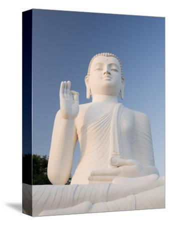 Great Seated Figure of the Buddha, Mihintale, Sri Lanka, Asia-Gavin Hellier-Stretched Canvas Print