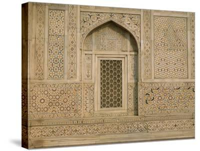 Detail of the Tomb of Itmad Ud Daulah (Itimad-Ud-Daulah), Agra, Uttar Pradesh State, India-Gavin Hellier-Stretched Canvas Print
