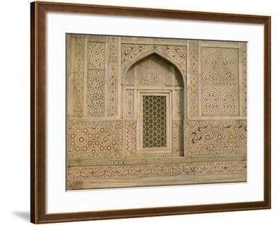 Detail of the Tomb of Itmad Ud Daulah (Itimad-Ud-Daulah), Agra, Uttar Pradesh State, India-Gavin Hellier-Framed Photographic Print