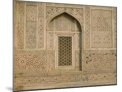 Detail of the Tomb of Itmad Ud Daulah (Itimad-Ud-Daulah), Agra, Uttar Pradesh State, India-Gavin Hellier-Mounted Photographic Print
