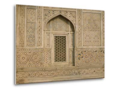 Detail of the Tomb of Itmad Ud Daulah (Itimad-Ud-Daulah), Agra, Uttar Pradesh State, India-Gavin Hellier-Metal Print