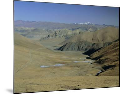 Approach to Mount Everest, Tingri, Tibet, China, Asia-Gavin Hellier-Mounted Photographic Print