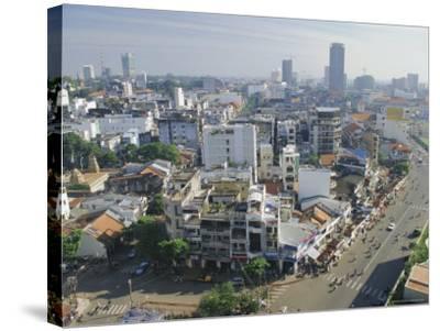 Skyline and Modern Construction, Ho Chi Minh City (Saigon), Vietnam, Indochina, Asia-Gavin Hellier-Stretched Canvas Print