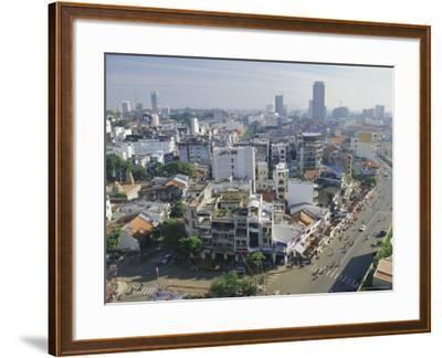 Skyline and Modern Construction, Ho Chi Minh City (Saigon), Vietnam, Indochina, Asia-Gavin Hellier-Framed Photographic Print
