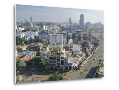 Skyline and Modern Construction, Ho Chi Minh City (Saigon), Vietnam, Indochina, Asia-Gavin Hellier-Metal Print